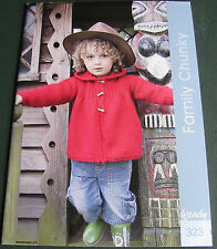 Wendy Family Chunky Knitting pattern book 323.