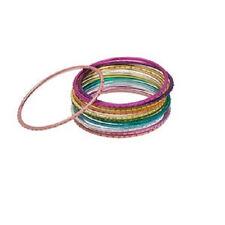 1582JU Bracelet Mix Set, Bangle Metal, Anodized Aluminum, Multicolor, 12 Qty