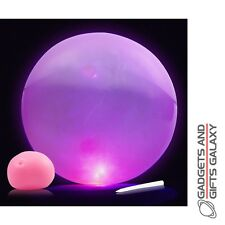SQUISHY BOUNCY INFLATABLE FLASHING BALLOON BALL Toys gifts games & gadgets