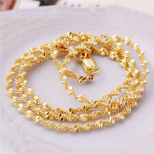 Gold chain Women Gold Filled Twisted Necklace Stylish Rope Chain Link Unisex