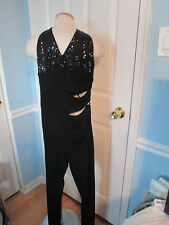 bebe sequin jumpsuit  small new