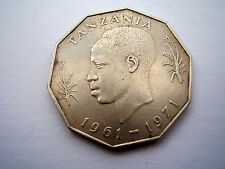 TANZANIA 1961-1971 NYERERE FAO 10th.INDEPENDENCE Issued FIVE SHILLING COIN USED.