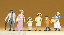 Preiser 12132 H0 Familie um 1900, 6 Figuren, handbemalt, Neu