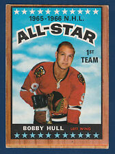 BOBBY HULL ALL STAR 66-67 TOPPS 1966-67 NO 125 EX  2877