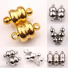 5/10 Sets White K/Silver/Gold Plated Calabash Shape Round Magnetic Clasps 5 Size