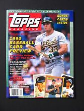 Topps Magazine #1 Winter 1990 Premier Issue Complete with Cards NM Baseball
