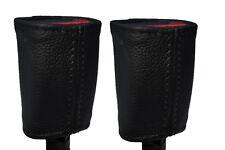 NERO CUCITURE 2x ANTERIORE Cintura di sicurezza in pelle copre adatta FORD FOCUS C-MAX 03-07