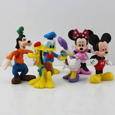Mickey Mouse Goofy Donald Duck Clubhouse Figures 6 pcs SET , Cake Topper +Charm