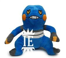 POKEMON CROAGUNK PELUCHE GRANDE big plush Cradopaud 453 Glibunkel Toxicroak 3ds