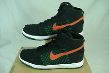 New Mens 11.5 NIKE Dunk Woven High Top Black Checkered Shoes $100 555030-080