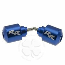 Blue Honda CNC Engraved Bar Ends Grips Aluminum Handle CBR 600 1000 RR Fireblade