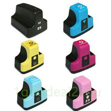 6 Pack 02 Ink Cartridge For HP Photosmart C7280 3310 C5180 8250  D7360 D7160
