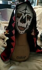 Mexican Wrestling Mask Rey Mysterio Style Hooded Skeleton Face WIth Hood