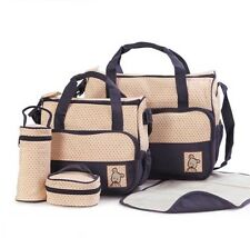 NEW! 5-PIECE BABY DIAPER BAG/ NAPPY BAG (NAVY BLUE)