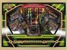 POKEMON TCG BOX Shiny RAYQUAZA EX SEALED OVP inglese 4 BOOSTER oversized CARD
