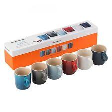 Le Creuset Stoneware Espresso Coffee Mug Set Of 6 Coastal Rainbow 100ml Gift Box