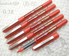 5 pcs UNI-BALL UB-150 0.38mm Ultra Micro roller ball pen RED ink Waterproof