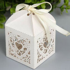 50pcs Candy Boxes With Ribbon Hollow Sweet Love Gift Box For Wedding Party Hot