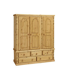 PINE FURNITURE ASHLEY TRIPLE 5 DRAWER WARDROBE NO ASSEMBLY REQUIRED