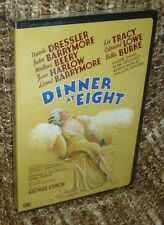 DINNER AT EIGHT DVD, NEW AND SEALED, VERY RARE REGION 1 DVD, WITH JEAN HARLOW