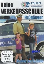DVD + Sicher zur Schule + Verkehrsschule für Kinder + Fußgänger + Polizei NRW +