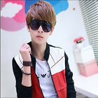 COOL Mens Short Straight  Hair Wigs Cosplay Boys Dance Party Wig Light Brown+Cap