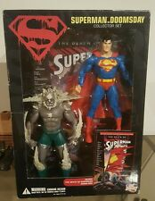 Dc universe Death of Superman ACTION FIGURES DOOMSDAY VS SUPERMAN COMIC PROMO 7""