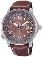 Citizen Promaster Nighthawk Euro Mens Pilots Leather Watch BJ7010-24W BJ7017-17W