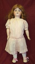 "Antique 22"" German Bisque Head Composition Body Girl Doll w/ Sleep Eyes"