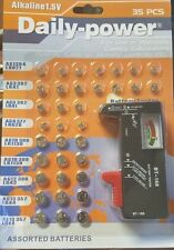 WATCH BATTERIES WITH TESTER 35 PIECE SET