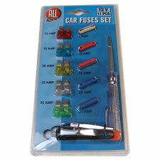 11 PIECE CAR FUSE SET KIT 10 A 15 A 20 A 25 A 30 A AMP