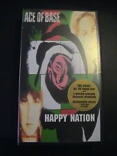 ACE OF BASE - HAPPY NATION / Brand New PAL VHS Video + Facsimile Signed Poster