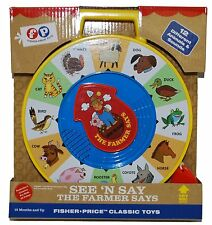 Fisher Price Classic Farmer Says See `n Say , New, Free Shipping