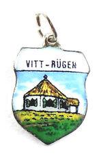 Bettelarmband Anhänger Wappen ♥ INSEL RÜGEN VITT ♥ Souvenir Charm antik 704