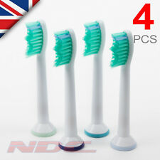 4 X SONICARE TOOTHBRUSH HEADS COMPATIBLE WITH PHILIPS HX6013 HX6011 PHILLIPS