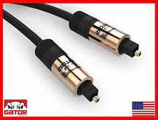 12 FT Toslink Cable Fiber Optic Gator Cable Digital Audio Optical SPDIF Cord COP