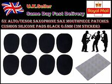 Alto/Tenor Saxophone Sax Mouthpiece Patches Cushion Silicone Pads Black 0.8mm