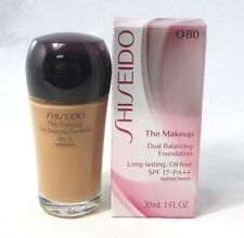 Shiseido The Makeup Dual Balancing Foundation SPF 17 ~ 0 80 ~ 1 fl oz. ~ BNIB