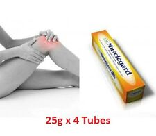 Natural Musclegard Herbal Cream-Rapid Relief for Backache & Muscular Pain 25g x4