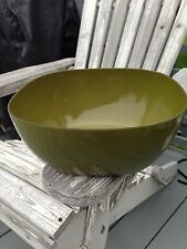 VINTAGE CATHERINEHOLM AVACADO GREEN ENAMELWARE BOWL CATHRINE HOLM LABEL