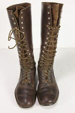 Diamond Brand Knee-High Leather WWII Motorcycle Boots Sz 8 Mens 19 Eyelet/Loop