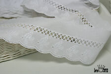 """14Yds Embroidery scalloped cotton eyelet lace trim  2.5"""" YH836 laceking2013"""