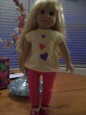 """KINGSTATE  17"""" DOLL with LONG BLOND LIGHT BROWN HAIR AND NICE CLOTHES"""