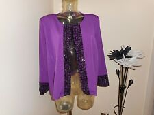 BNWT BOB MACKIE WEARABLE SEQUIN SWING JACKET QVC SIZE 3XL