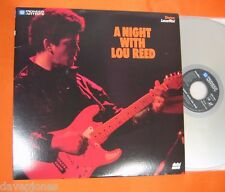 A Night With LOU REED Live Bottom Line 1983 NYC Laserdisc Digital Sound Version
