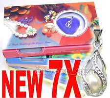 7X Box helix(drop) pendant Natural Oyster Wish Pearl Necklace gift set Box-wh120