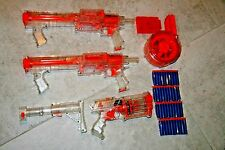 Nerf Raider N-Strike CS-35 Drum Dart Gun clip Stock Clear HTF tactical Toy Lot 2