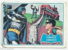 1966 Topps Batman Blue Bat with Bat Cowl Back (28B) Concrete Conquest