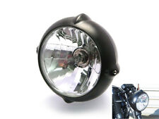 "6.7"" Matt Black 12V 55W Headlight For Harley Davidson Sportster Dyna Softail"