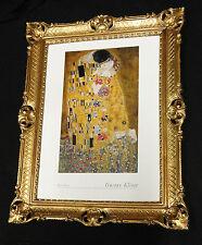 Gemälde Bild mit Rahmen xxl 90x70 Der Kuss von Gustav Klimt Bilderrahmen Barock